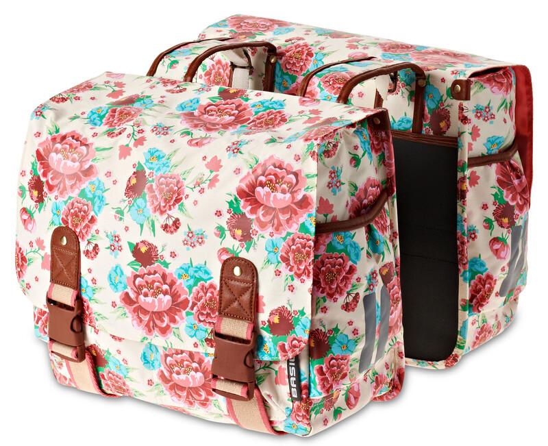 Bloom Doppeltasche gardenia weiß 2017 Gepäckträgertaschen
