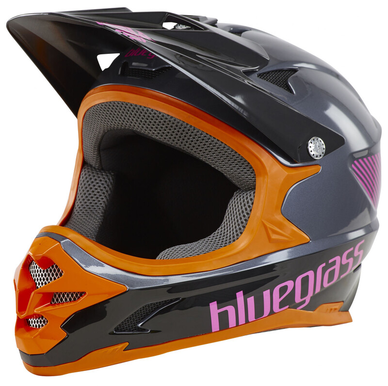 bluegrass Intox Fullface-Helmet grey/orange/purple 52-54 cm 2017 Fahrradhelme, G