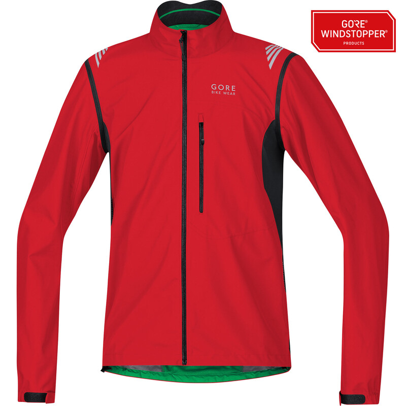 GORE BIKE WEAR Element WS AS Zip-Off Jacket Men red/black M 2017 Fahrradjacken,