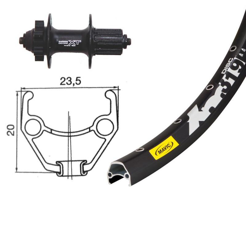 H-Rad 26 x 1.90, Shimano Deore XT, 8/9-fach MTB Hinterräder