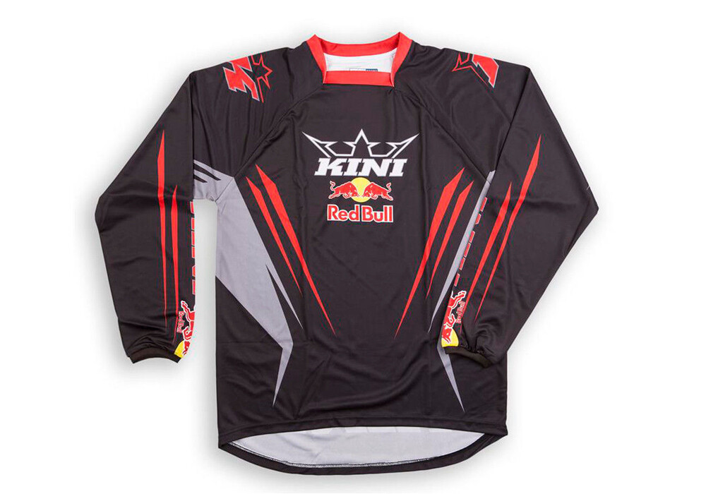 kini red bull competition downhill jersey heren zwart. Black Bedroom Furniture Sets. Home Design Ideas