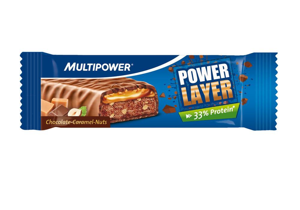 multipower power layer riegel 60 g schoko karamell nuss. Black Bedroom Furniture Sets. Home Design Ideas