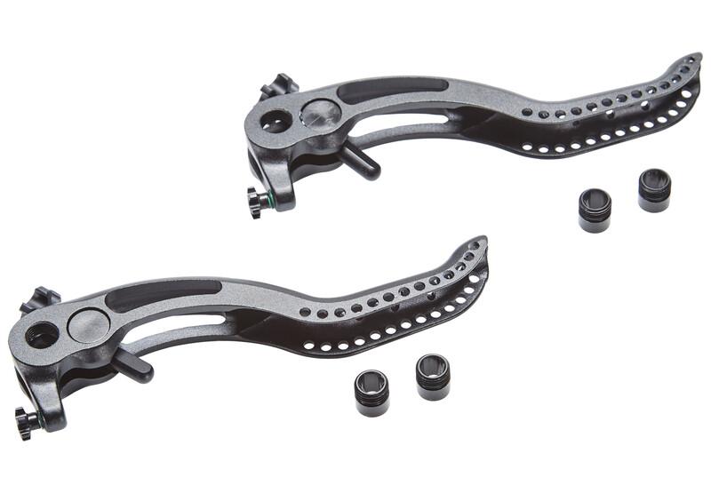 BrakeForceOne CNC 2-Finger Bremshebel einzeln inkl. Hebelverstellung Schwarz 201