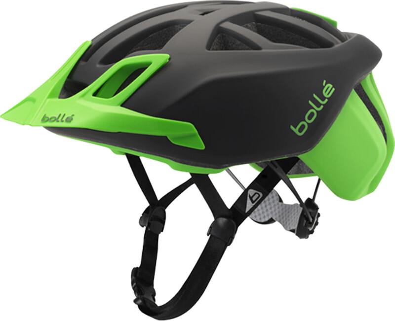 Bolle The One MTB Helmet black/flash green 54-58 cm 2017 Fahrradhelme, Gr. 54-58