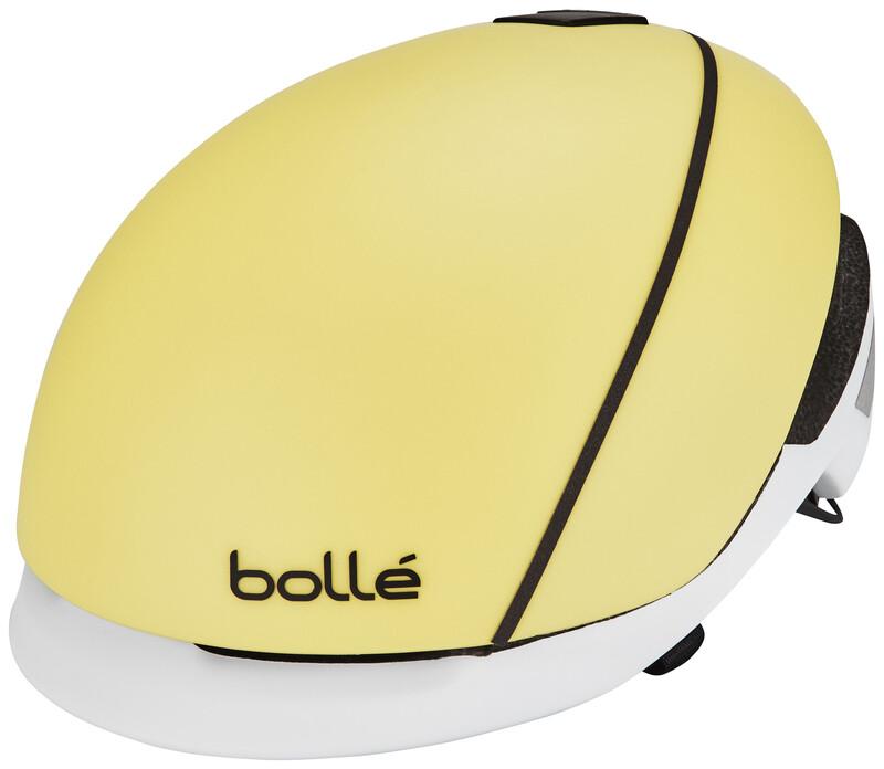Bolle Messenger Premium Hi-Vis Helmet matt yellow/white 54-58 cm 2017 Fahrradhel