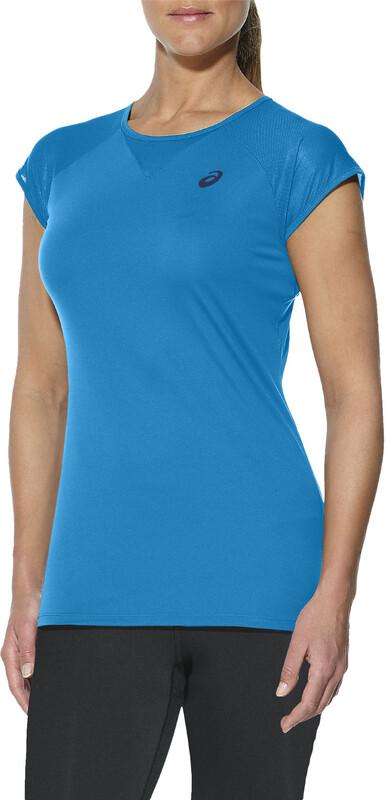 asics Workout Top Women diva blue 2017 Laufshirts, Gr. M