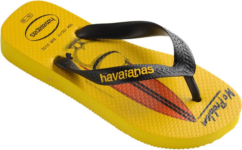 havaianas Minions Flips kids citrus yellow/black  2017 Sandalen