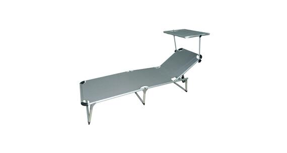 lit de plage trois pieds en aluminium beach avec parasol. Black Bedroom Furniture Sets. Home Design Ideas