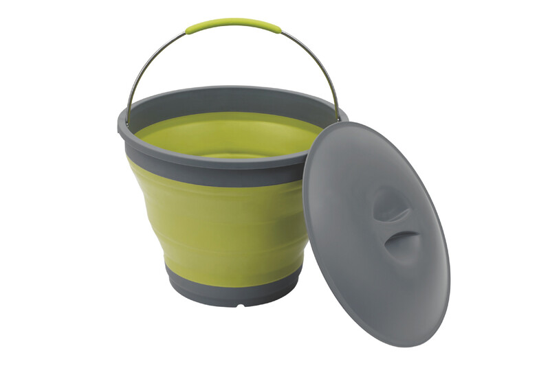 Collaps Bucket with Lid green Wasserbehälter & -kanister