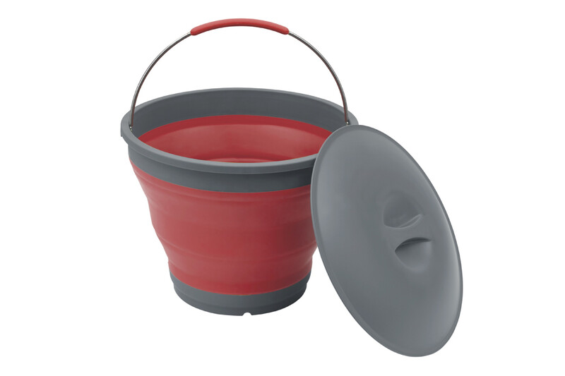 Collaps Bucket with Lid red Wasserbehälter & -kanister