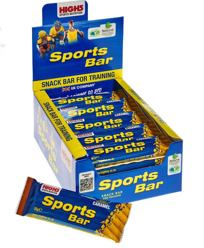 High5 SportBar Riegel Box Caramel 25 x 60g 2017 Energieriegel