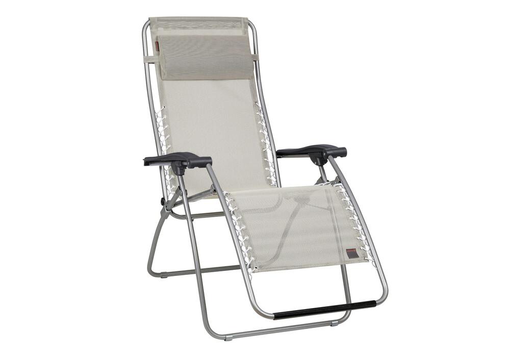 lafuma rsxa trendy chaise pliante beige gris sur. Black Bedroom Furniture Sets. Home Design Ideas