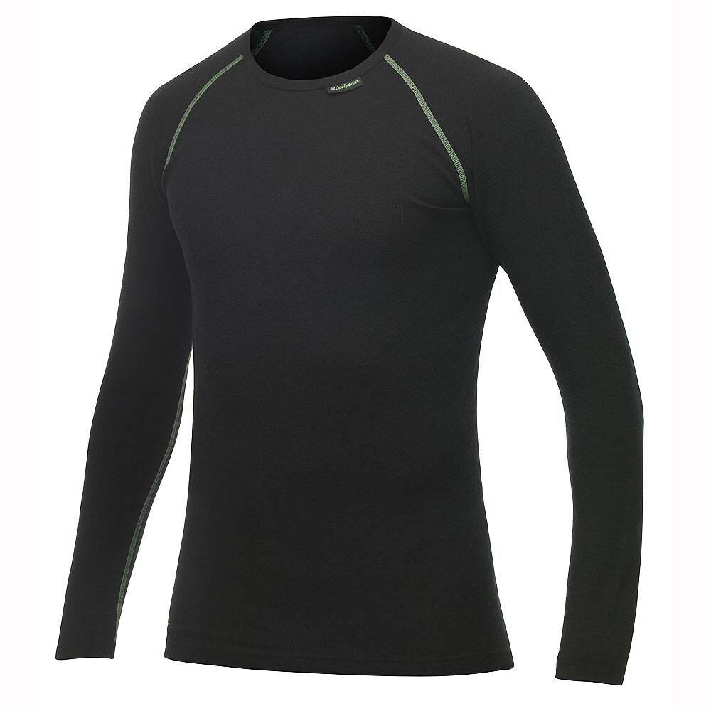 Woolpower Crewneck Lite black L outdoorunterwäsche~outdoor unterwäsche~unterwäsche~unterwäsche merino~unterwäsche merinowolle