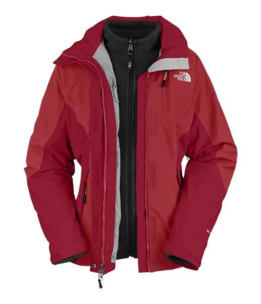 the north face women atlas triclimate jacket pagoda red of. Black Bedroom Furniture Sets. Home Design Ideas