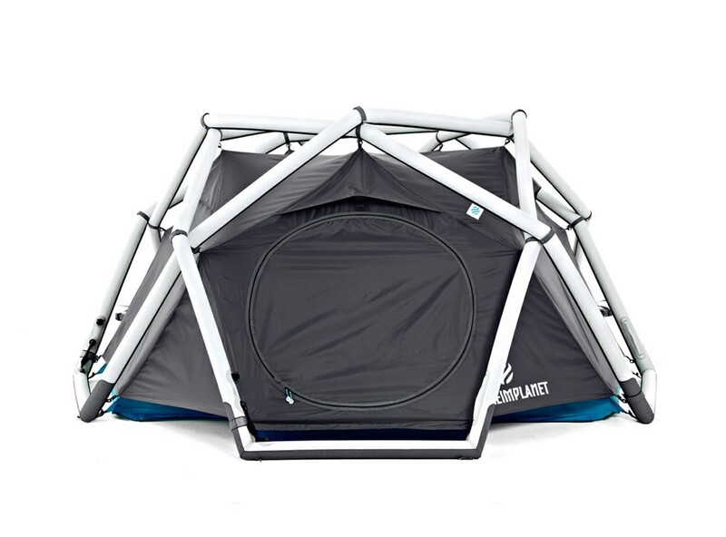 The Cave Tent lightgrey/dark grey/ocean blue Igluzelte