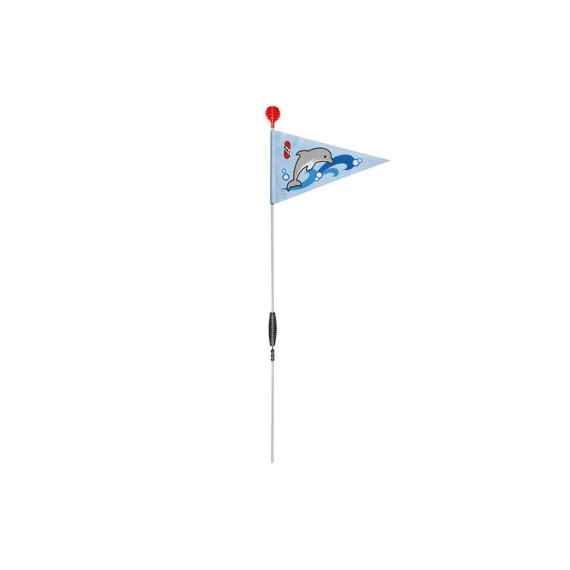 SW3 Sicherheitswimpel ocean blue Kinderfahrrad Zubehör