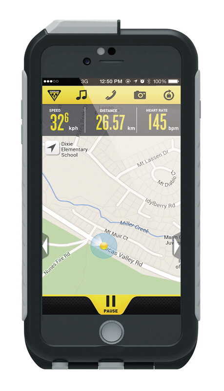 Topeak Weatherproof RideCase für iPhone 6 Plus+Halter black/gray 2017 Smartphon
