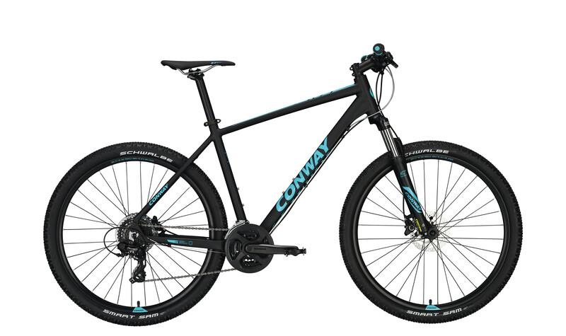 Conway MS 427 Herren black matt/blue 50cm 2017 Mountainbikes, Gr. 50cm