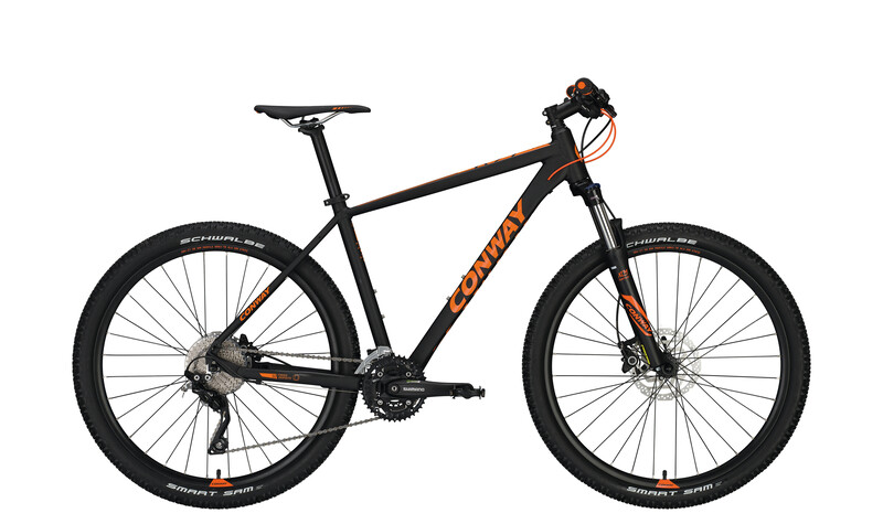 Conway MS 627 Herren black matt/orange 48cm 2017 Mountainbikes, Gr. 48cm