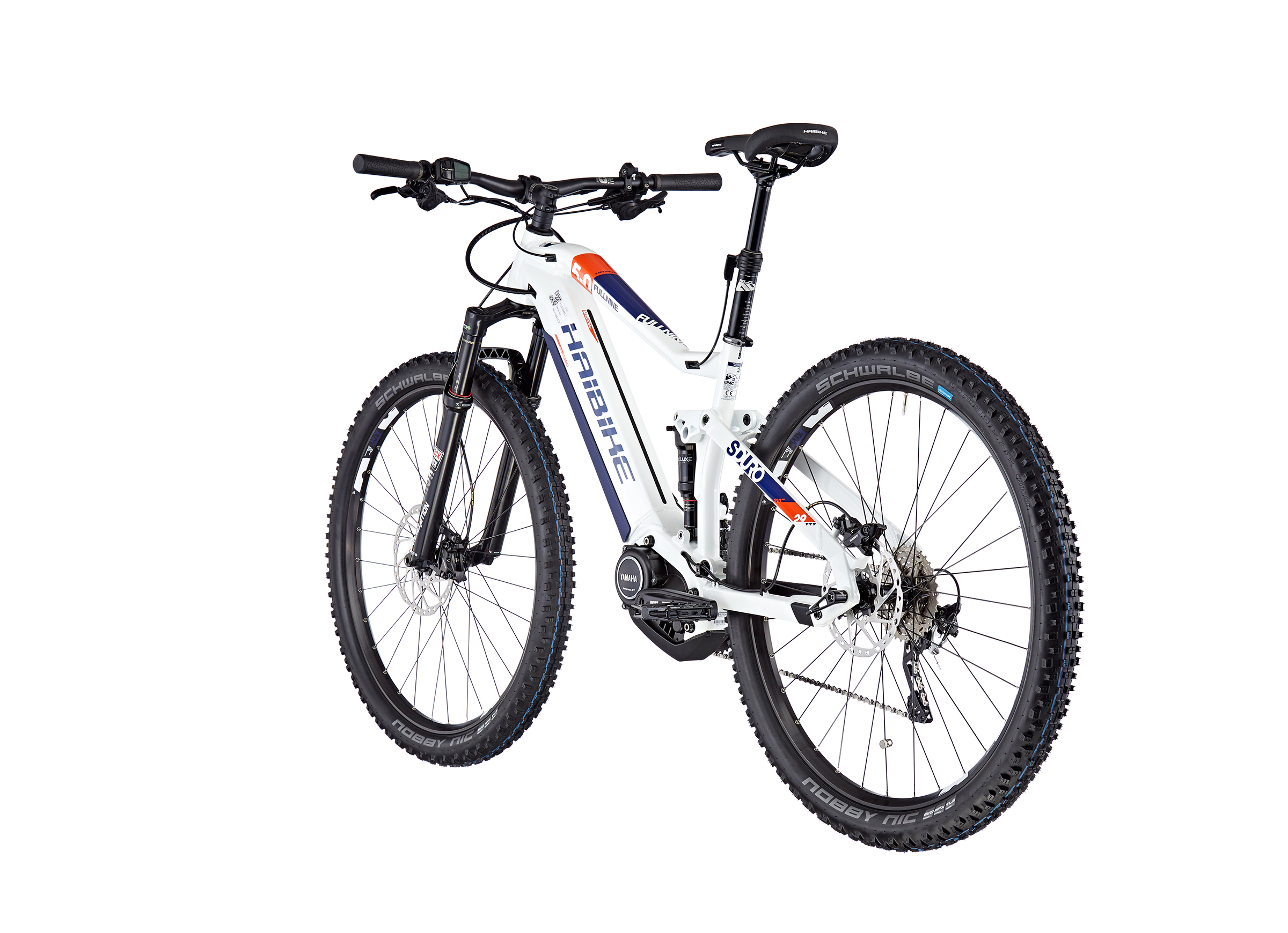 HAIBIKE SDURO FullNine 5.0 white/orange/blue