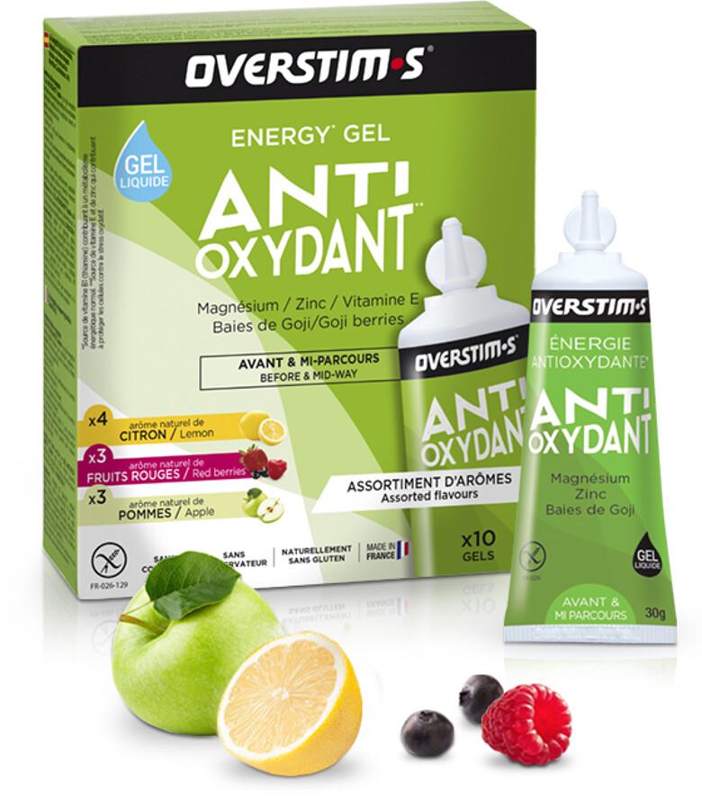 OVERSTIM.s Antioxydant Liquid Gel Box 10x30g, Mixed Flavors (2019) | Misc. Nutrition