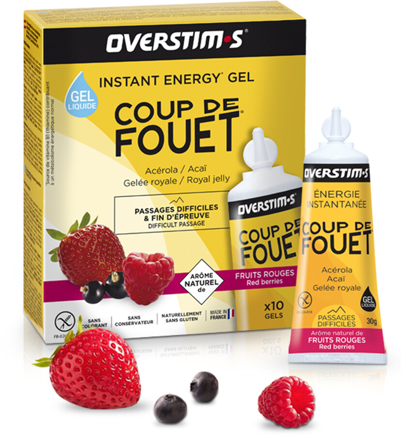 OVERSTIM.s Coup de Fouet Liquid Gel Box 10x30g, Red Berries | Energi og kosttilskud > Tilbebør