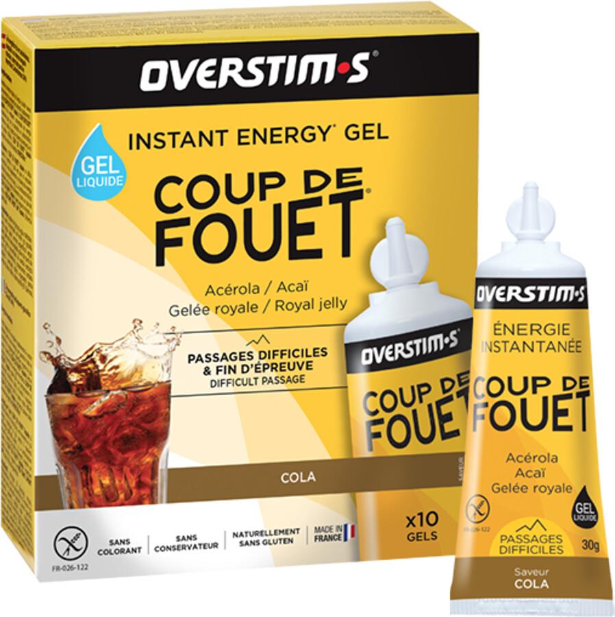OVERSTIM.s Coup de Fouet Liquid Gel Box 10x30g, Cola | Energi og kosttilskud > Tilbebør