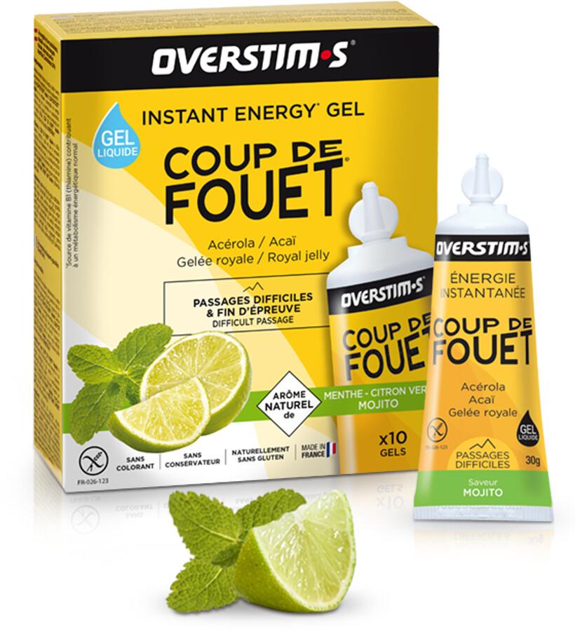 OVERSTIM.s Coup de Fouet Liquid Gel Box 10x30g, Mojito | Energi og kosttilskud > Tilbebør