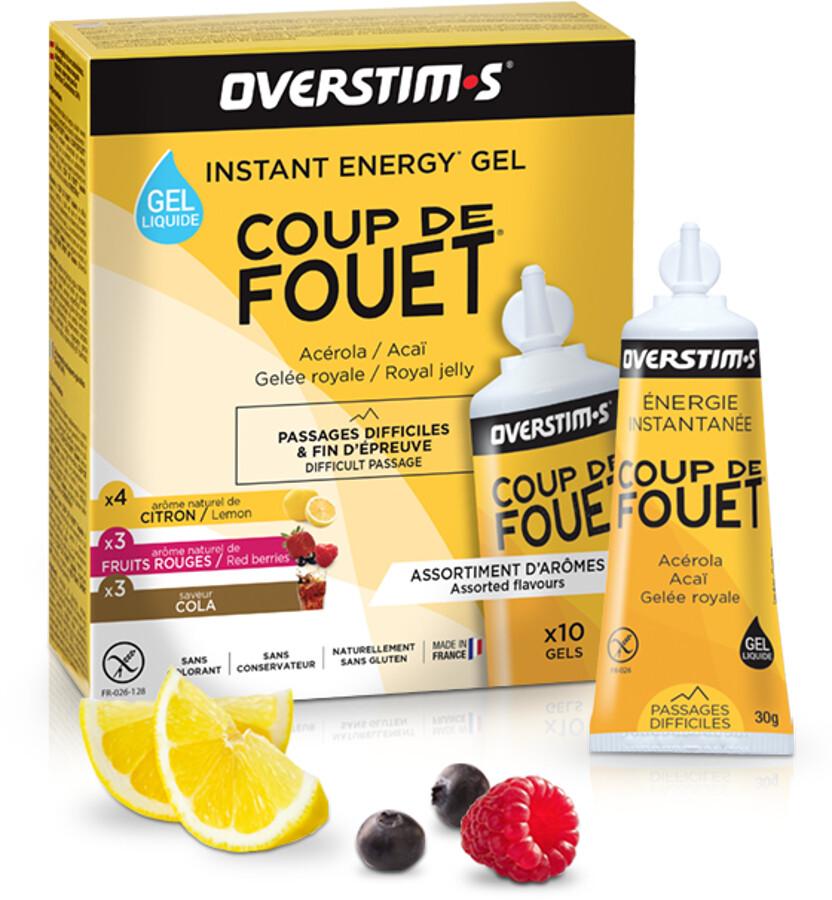 OVERSTIM.s Coup de Fouet Liquid Gel Box 10x30g, Mixed Flavors | Energi og kosttilskud > Tilbebør