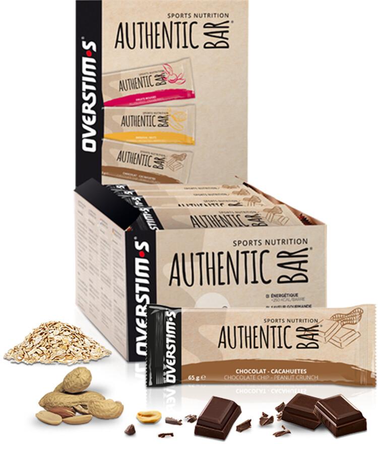 OVERSTIM.s Authentic Bar Box 30x65g, Chocolate Peanuts (2019) | Energy bar