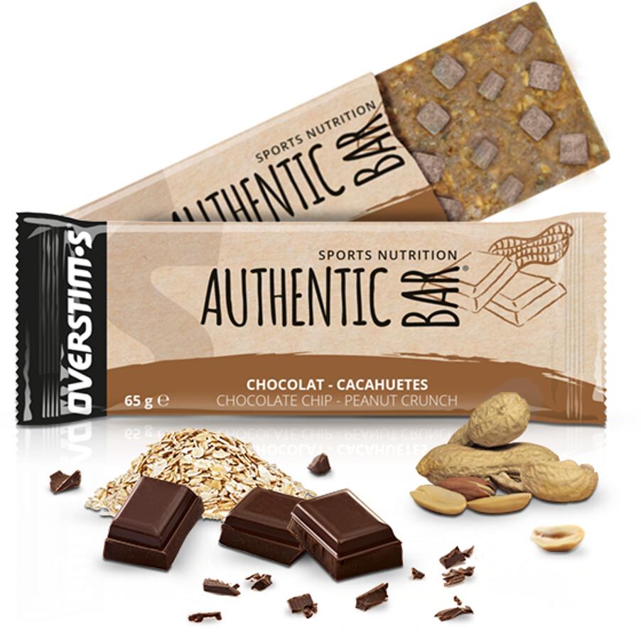 OVERSTIM.s Authentic Bar Box 6x65g, Chocolate Peanuts (2019) | Energy bar