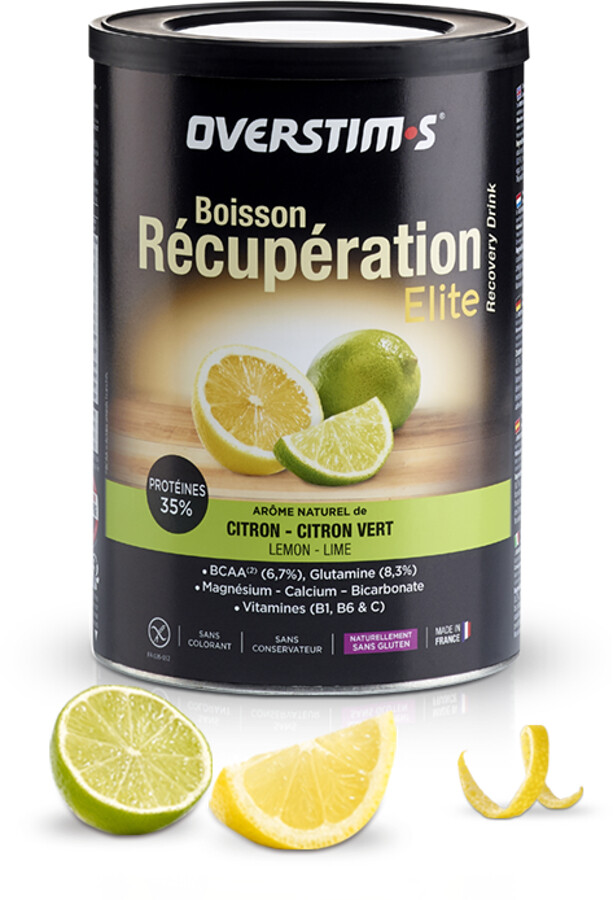 OVERSTIM.s Elite Recovery Drink 420g, Lemon Lime (2019) | Protein bar and powder