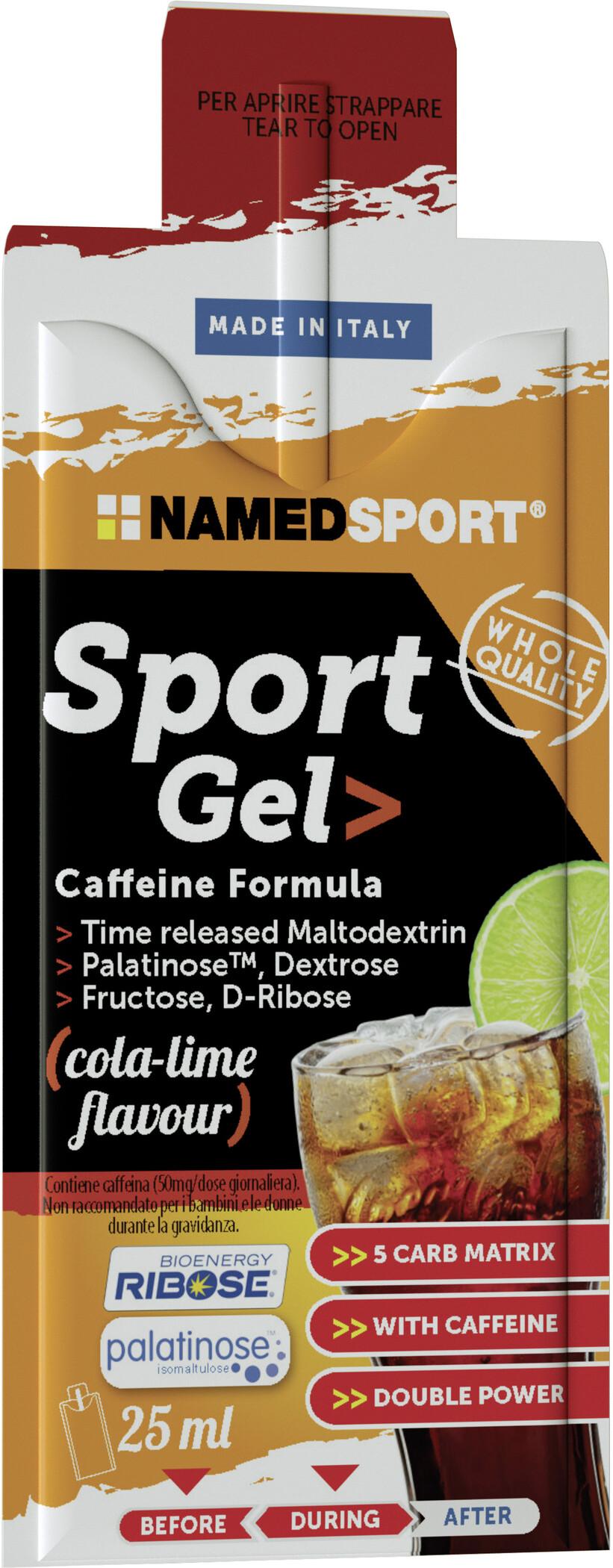 NAMEDSPORT Sport Energy Gel Box 15x25ml, Cola Lime   Energy gels