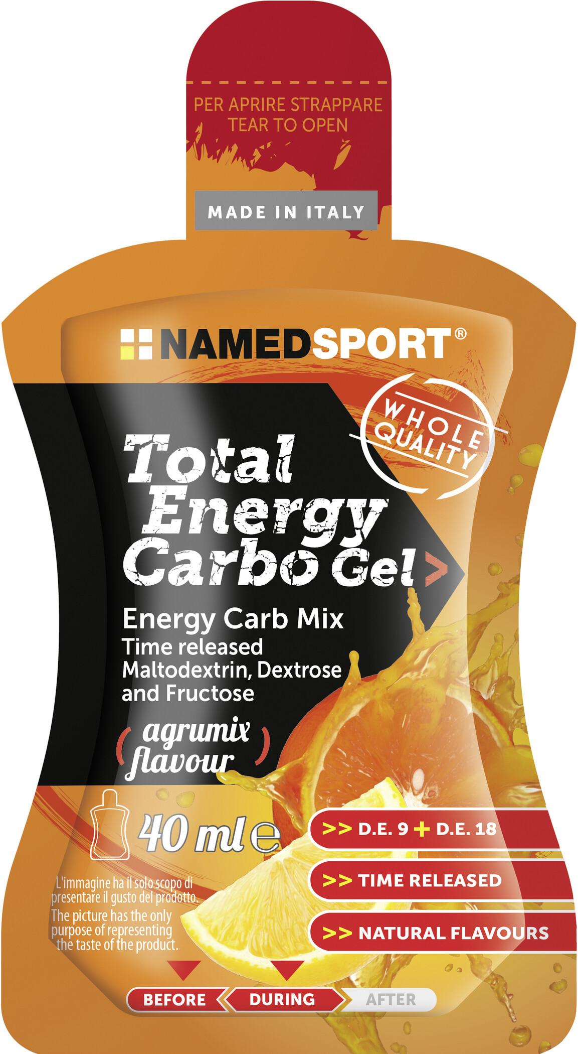 NAMEDSPORT Total Energy Gel Carbo Box 24x40ml, Agrums   Energy gels