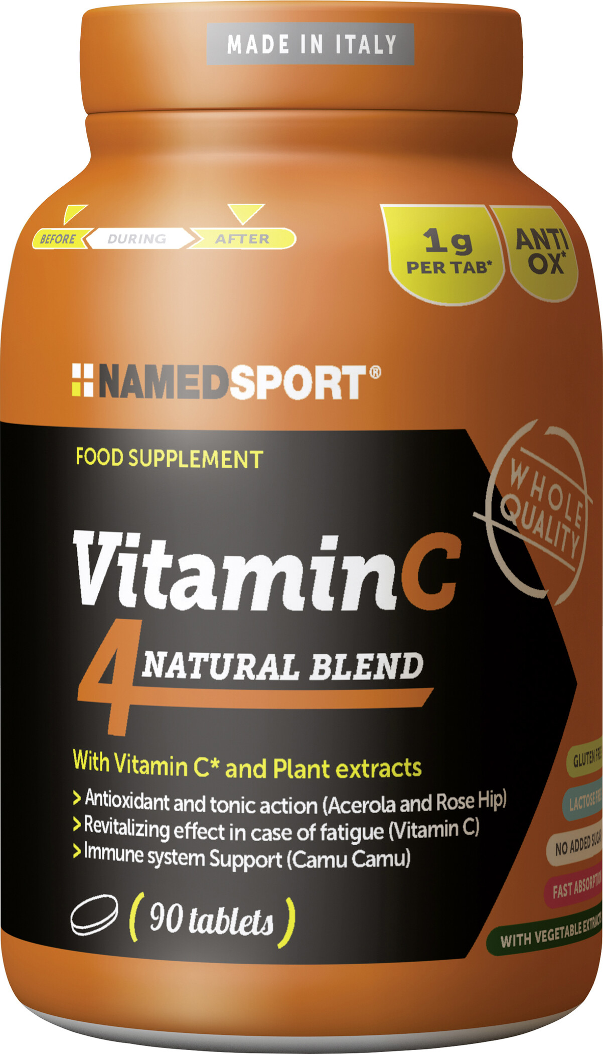 NAMEDSPORT Vitamin C4 90 tabletter, Neutral (2019) | Energi og kosttilskud > Tilbebør