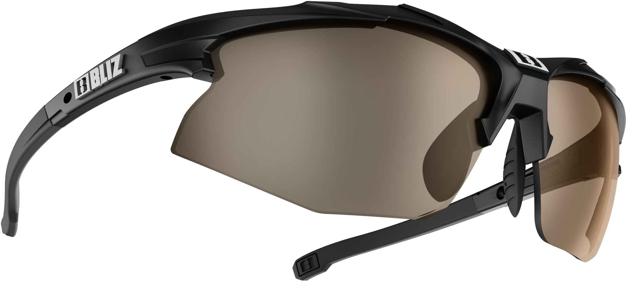 Bliz Hybrid M15 Smallface-briller, matt black/pol brown (2019) | Glasses