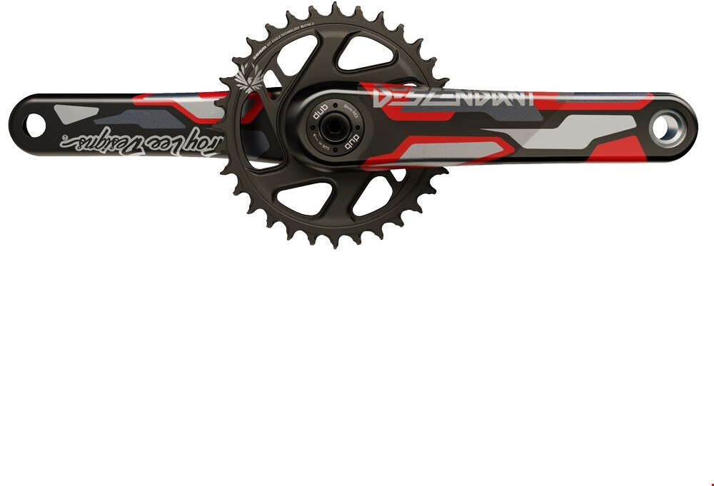 Truvativ Descendant TLD CoLab Kranksæt 32T 12-speed Direct Mount DUB Boost, red (2020) | Crankset