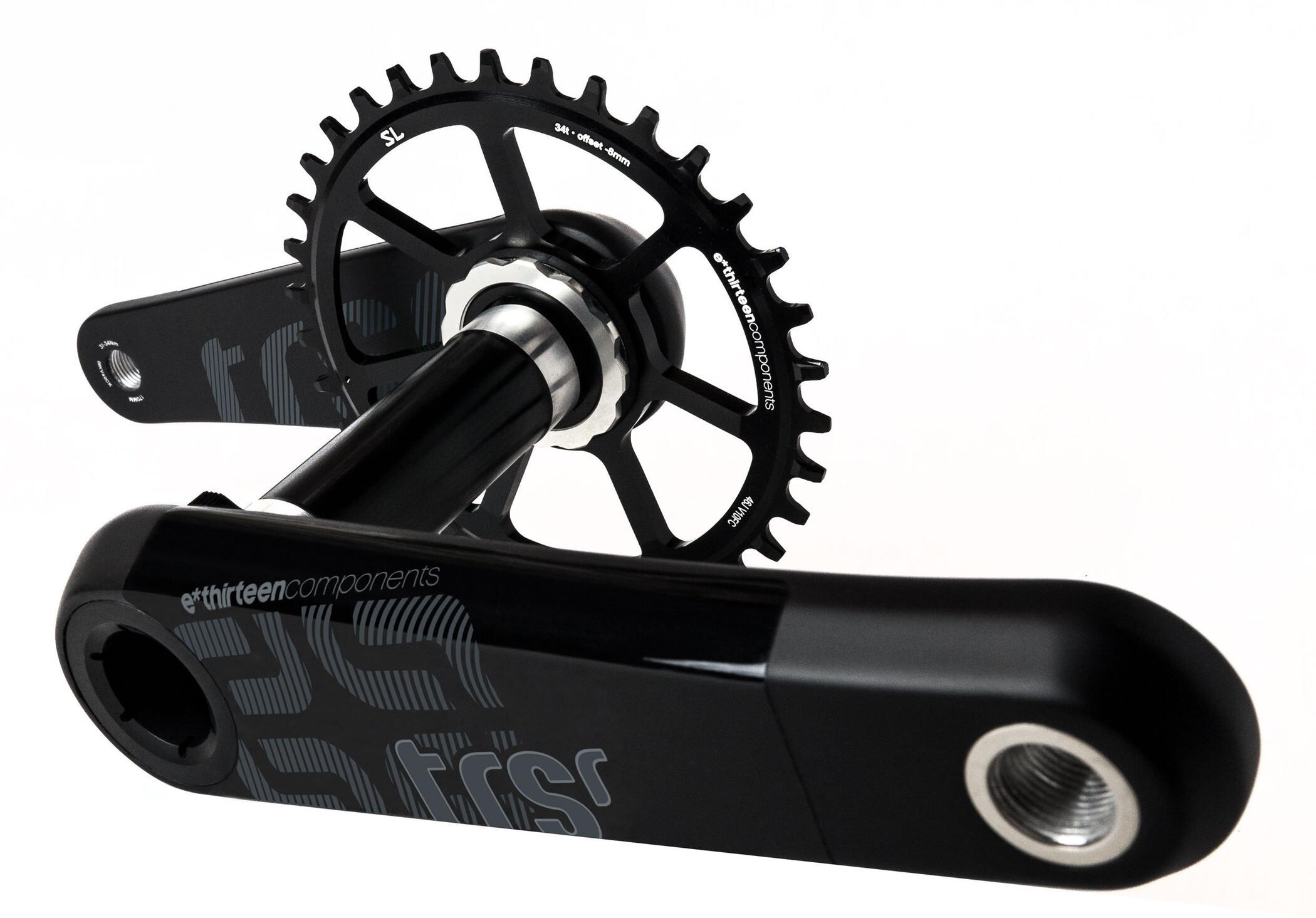 e*thirteen TRS Race Kranksæt 73mm Self-Extractor Carbon, black | Crankset