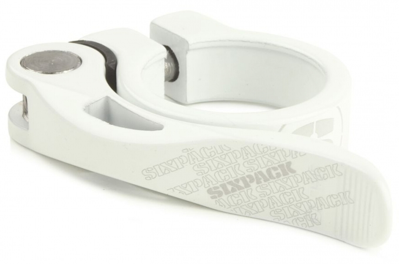 Sixpack Menace Saddle Clamp for Shaft Coupling 35mm, white (2019) | Seat Clamp