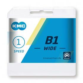 """KMC k1sl Wide cadena 1 veces 1//8/"""" 100 eslabones de plata"""
