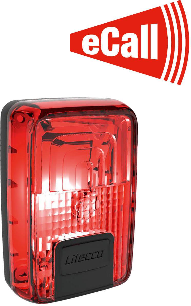 Litecco LightGuard Connect Baglygte, red   Baglygter