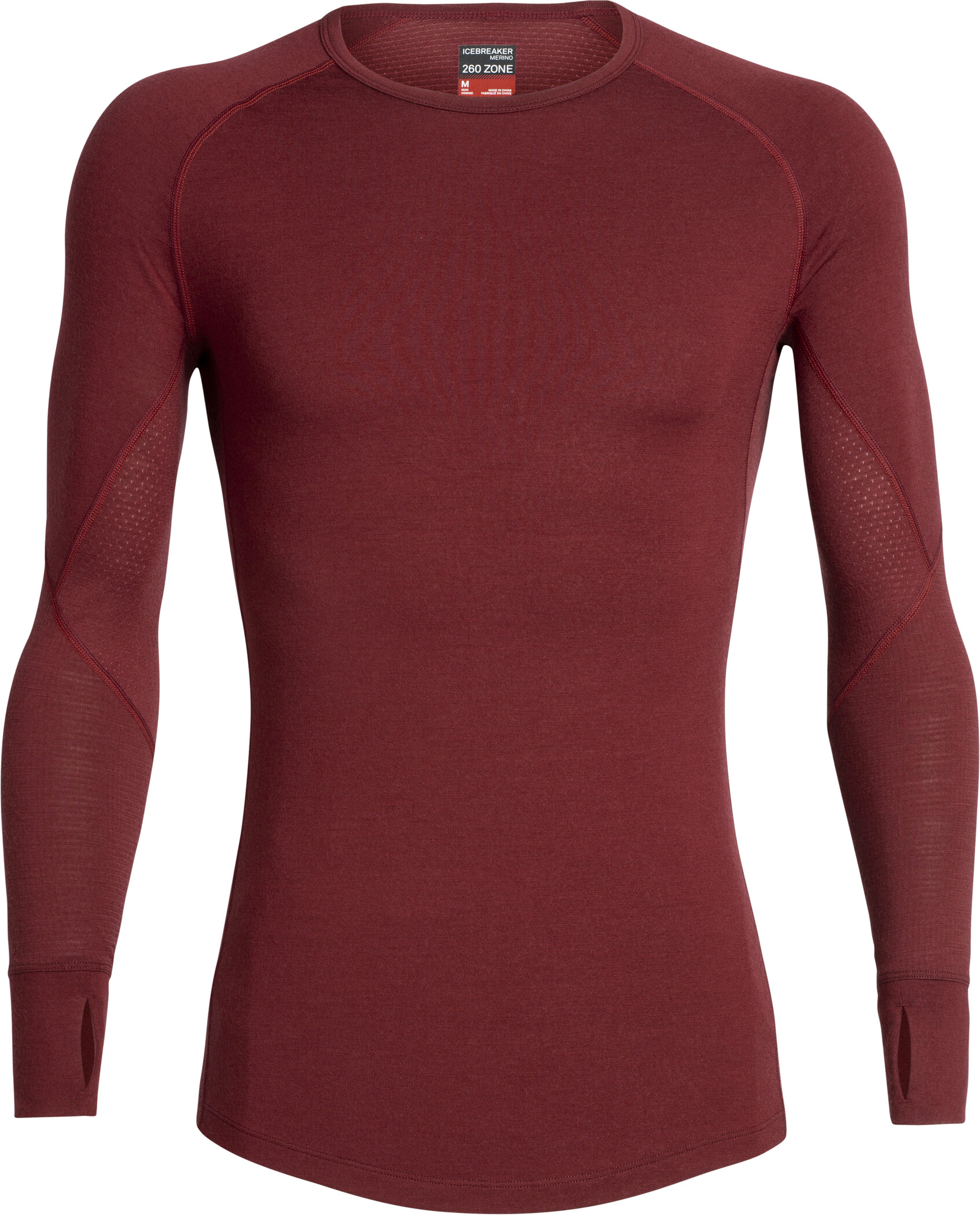 Icebreaker 260 Zone Langærmet T-shirt Herrer, cabernet/chili red (2019) | Base layers