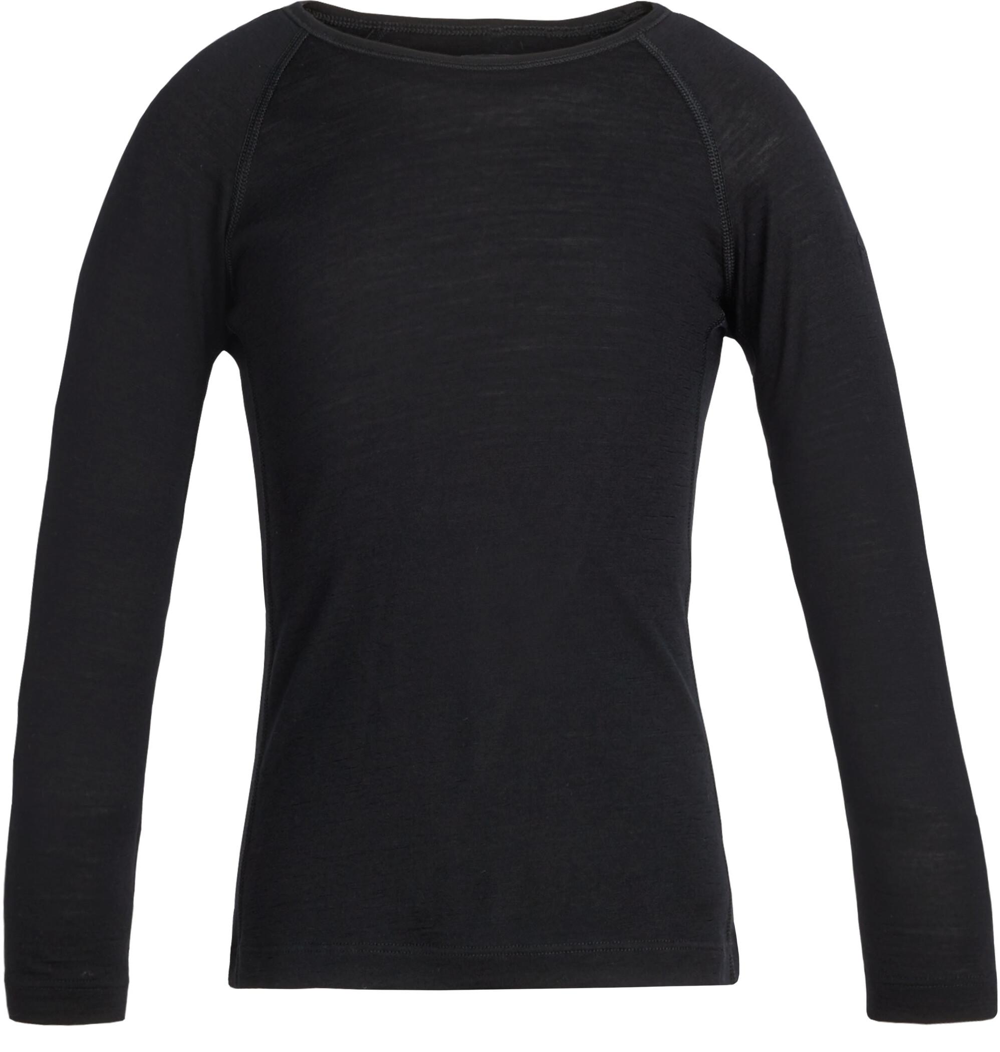 Icebreaker 200 Oasis Langærmet T-shirt Børn, black (2019) | Base layers