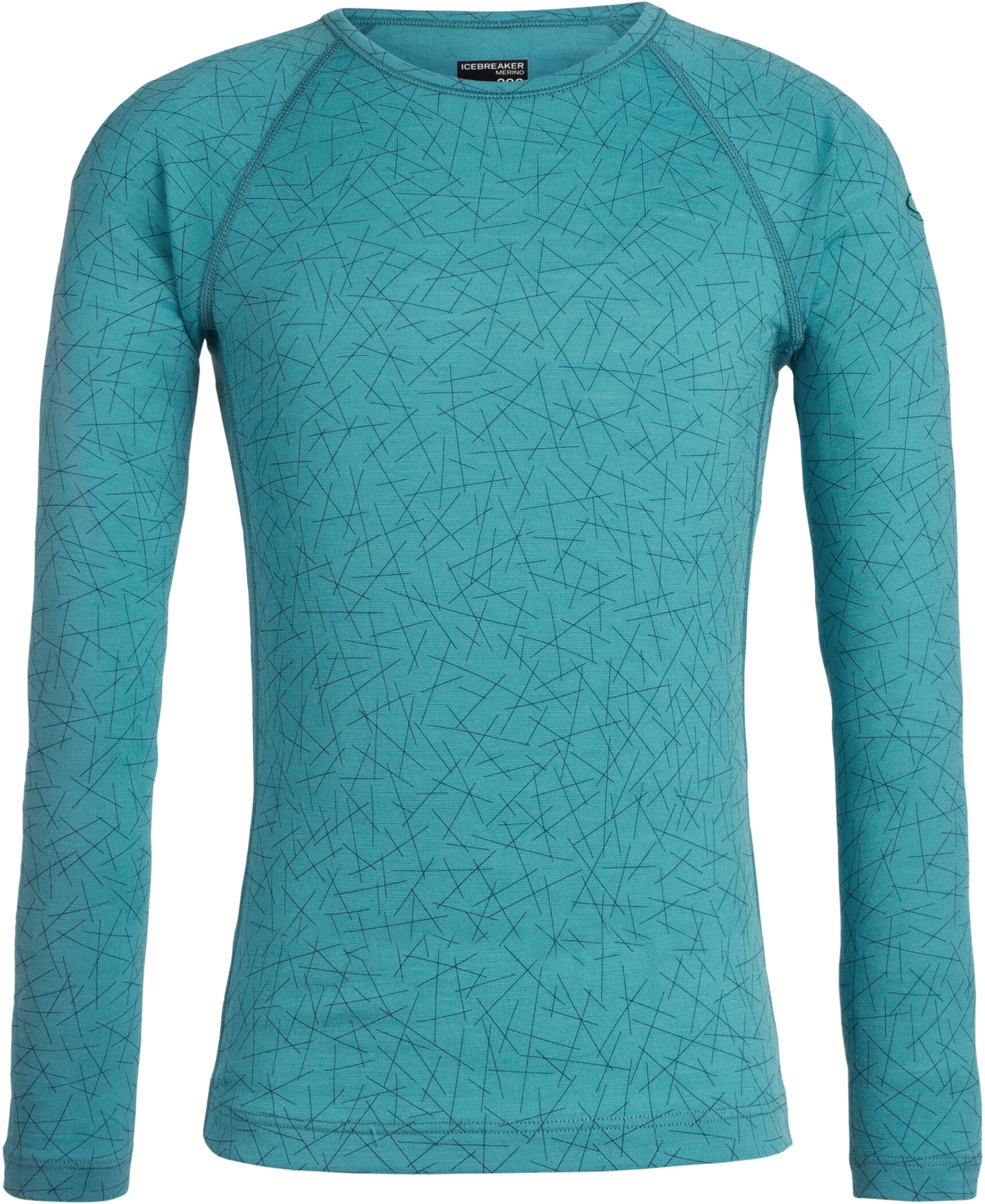Icebreaker 200 Oasis Sky Paths Langærmet T-shirt Børn, arctic teal (2019) | Base layers