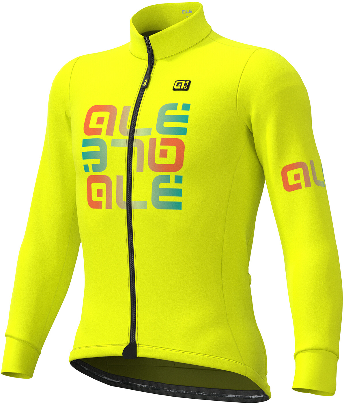 Alé Cycling Solid Mirror Vintertrøje Herrer, fluo yellow (2019) | Jerseys