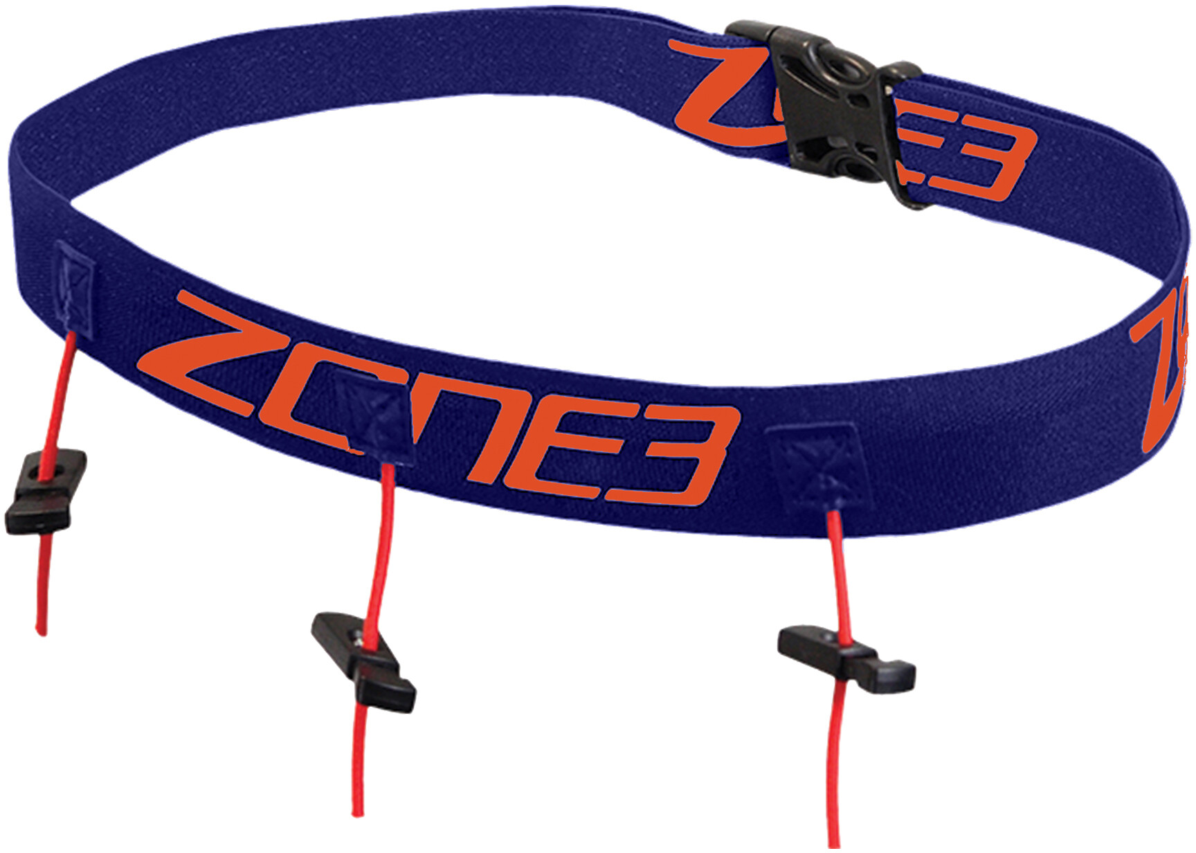 Zone3 Race Belt with Gel Loops, navy/orange (2019) | misc_clothes