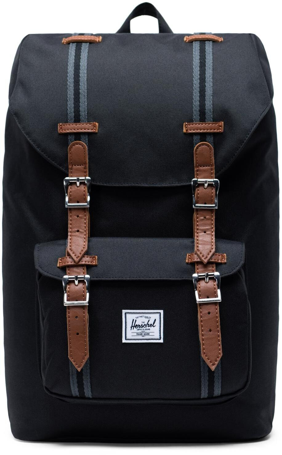 Herschel Little America Mid-Volume Rygsæk 17L, black/black/tan (2019) | Travel bags