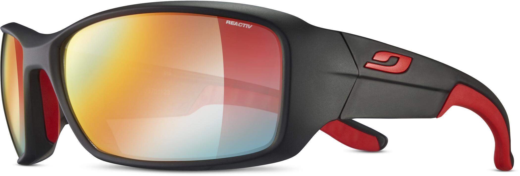 Julbo Run Reactiv Performance Solbriller Herrer, black/red/multilayer red (2020) | Glasses