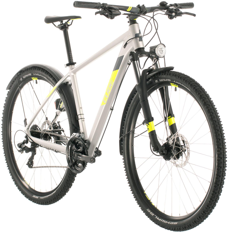 Cube Aim Allroad, silver/flash yellow | Mountainbikes