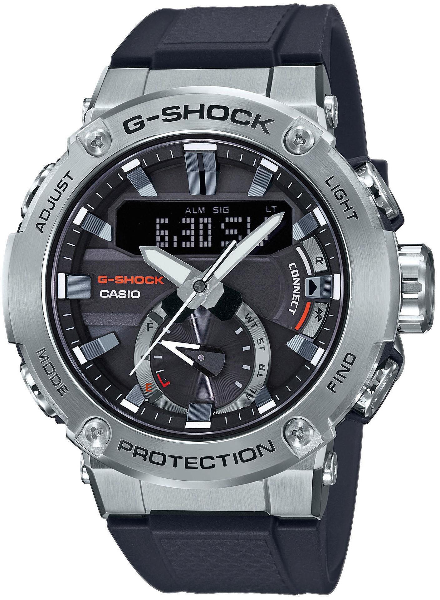 CASIO G-SHOCK G-Steel GST-B200-1AER Ur Herrer, silver/black (2019)   Sports watches